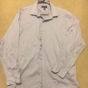 Alfani XL Button Up Long Sleeve Dress Up Shirt